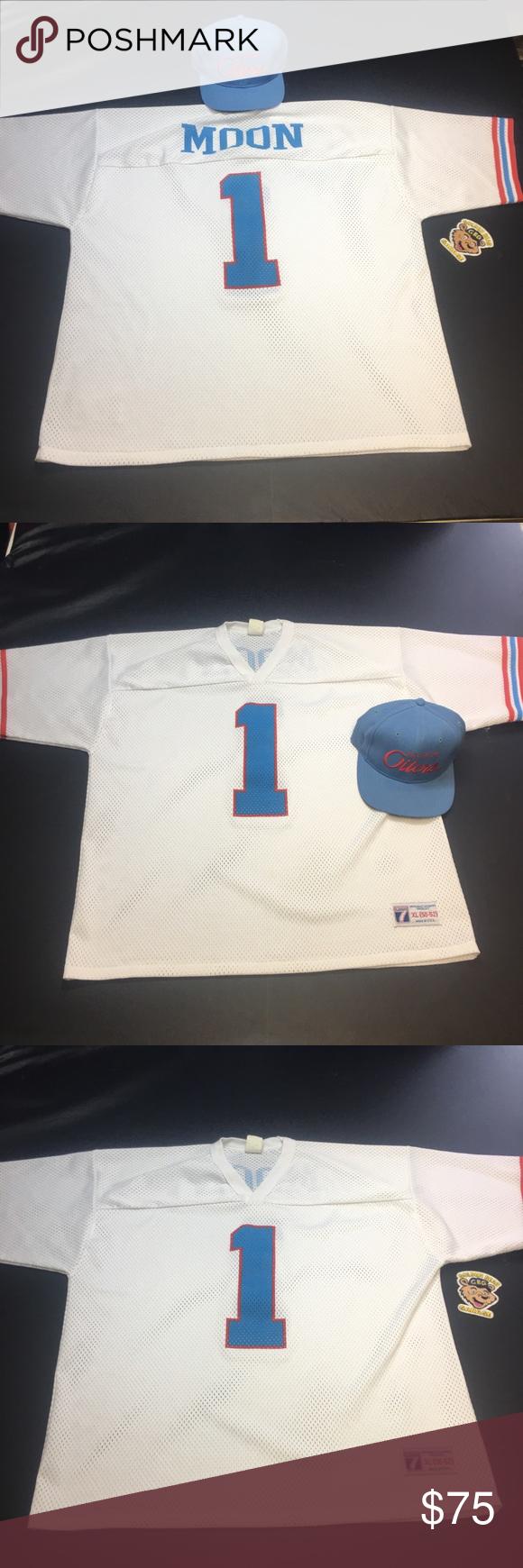 online store 440aa 0a3c3 Vintage Houston Oilers Warren Moon Football Jersey Vintage ...