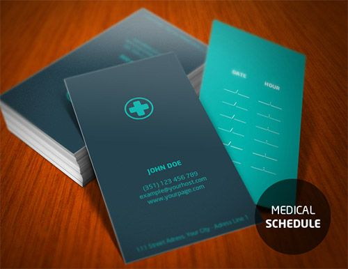 20 designs of medical business cards for doctors for Doctors business cards