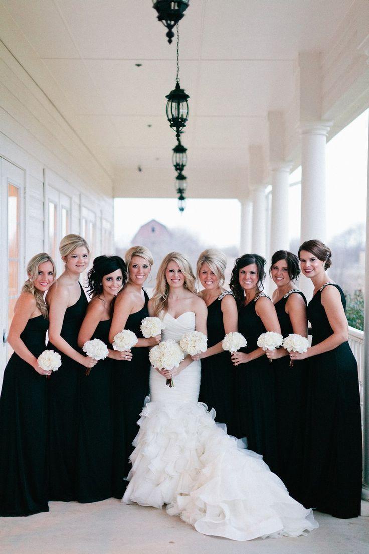 Black and white wedding ideas black bridesmaids wedding and black black and white wedding ideas black bridesmaid dressesblack ombrellifo Image collections