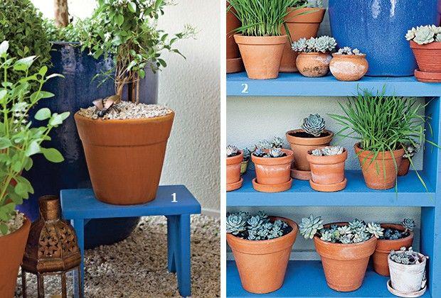 Brincar com alturas de vasos, misturar texturas de materiais e até usar espelho para ampliar a visão do verde. O tédio passa longe dessas varandas e terraços com várias perspectivas. Vale copiar!
