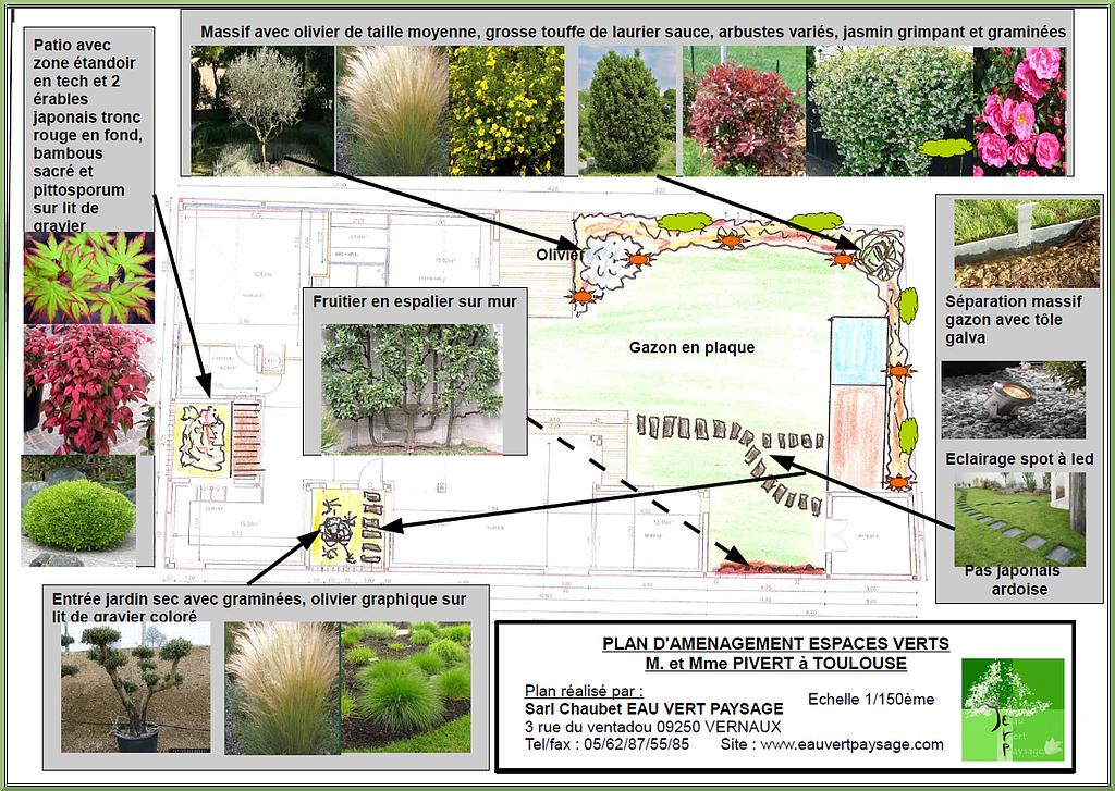 R sultat de recherche d 39 images pour am nagement paysager jardin ardoise plan pinterest - Plan amenagement jardin ...