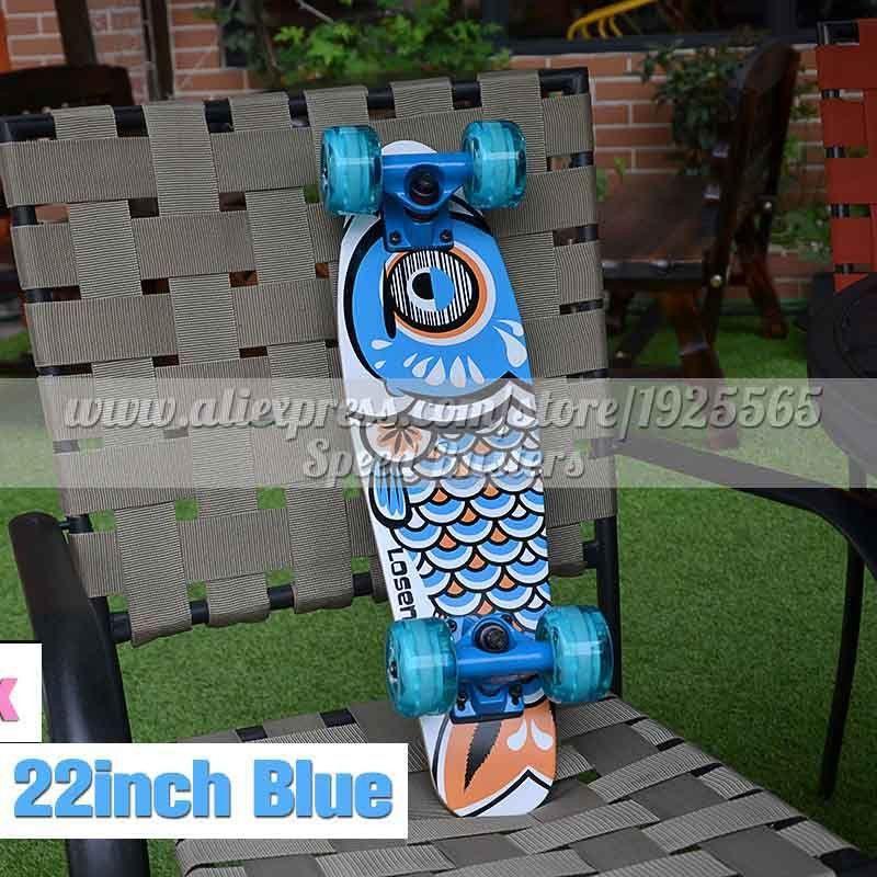 wooden 22/27 skateboards mini longboard complete peny skate board canadian maple skateboard deck adult children 4 wheel skates