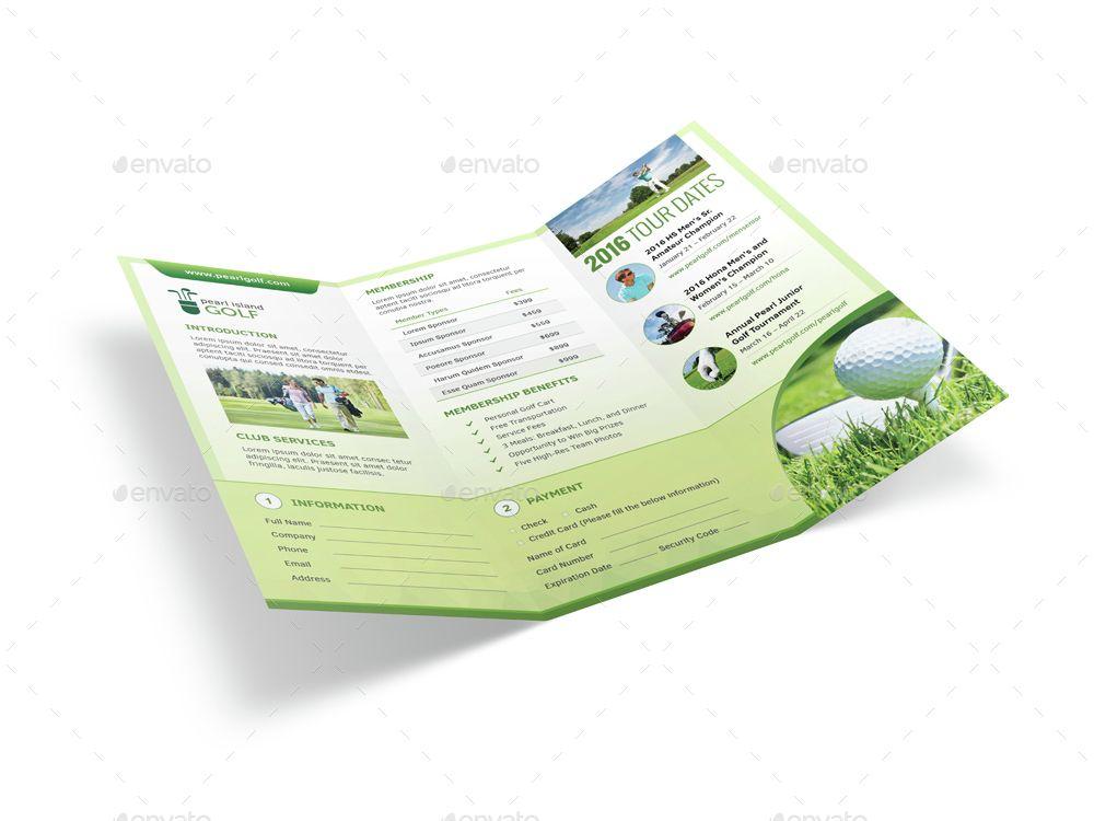 Golf Club Trifold Brochure Trifold brochure, Golf clubs