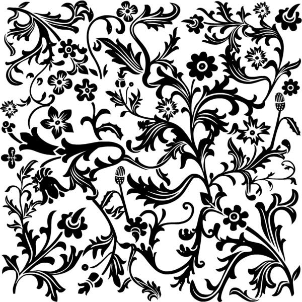 Free Scrapbooking Supplies Black and White Flower