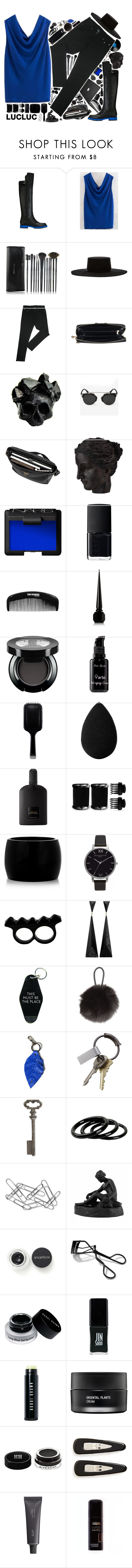 """Mostly Black"" by ritaflagy ❤ liked on Polyvore featuring Fendi, Brixton, Macabre Gadgets, Mulberry, Ren-Wil, NARS Cosmetics, arbÅ«, GHD, beautyblender and Tom Ford"