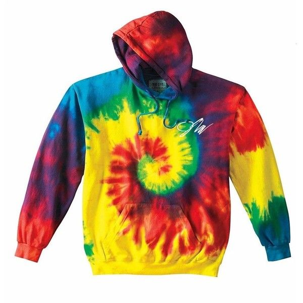 4651bab2d66 Jake Paul Rainbow Tie-Dye Hoodie ( 45) ❤ liked on Polyvore featuring tops