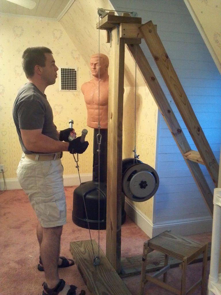 Cable exercise machine diy home gym homemade gym