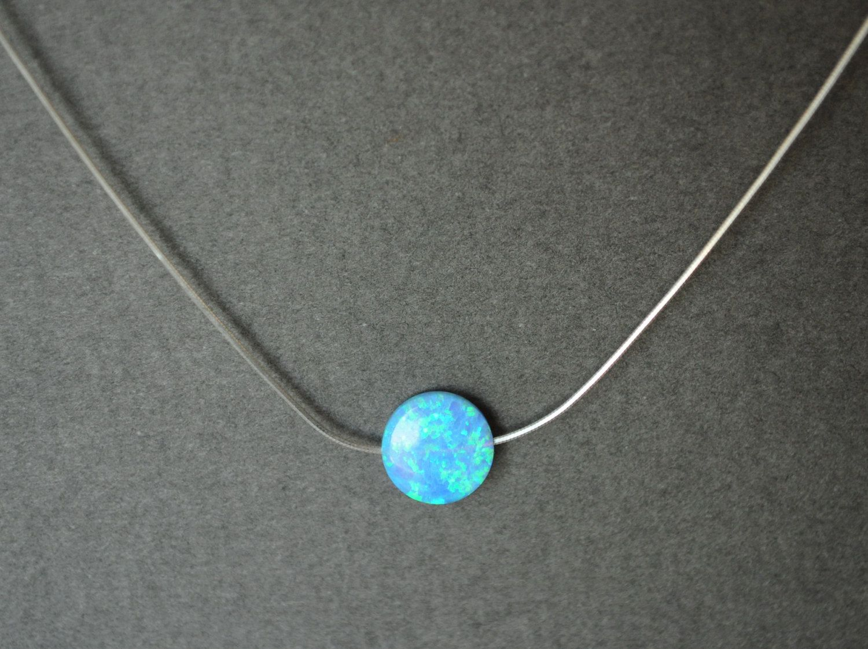 Opal necklace silver fire opal necklace opal jewelry blue opal opal necklace silver fire opal necklace opal jewelry blue opal white opal mozeypictures Gallery