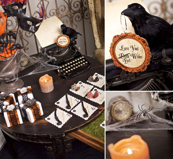 victorian halloween part 2 invites decor - Victorian Halloween Decorations