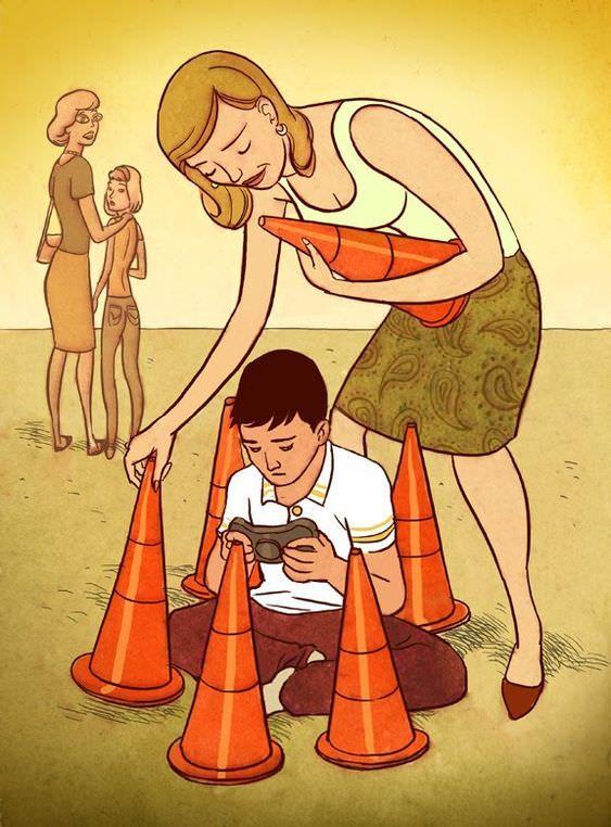 Стиле стимпанк, веселые картинки воспитание детей