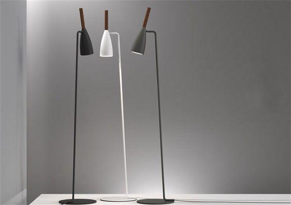 Staande lamp design zwart wit of grijs richtbaar e mm hoog