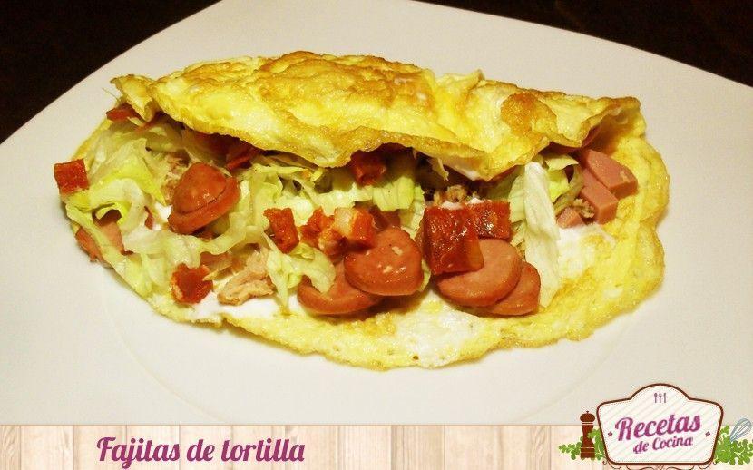 Receta Fácil Y Rápida Fajitas De Tortilla Francesa Tortas Recetas Fáciles Fajitas