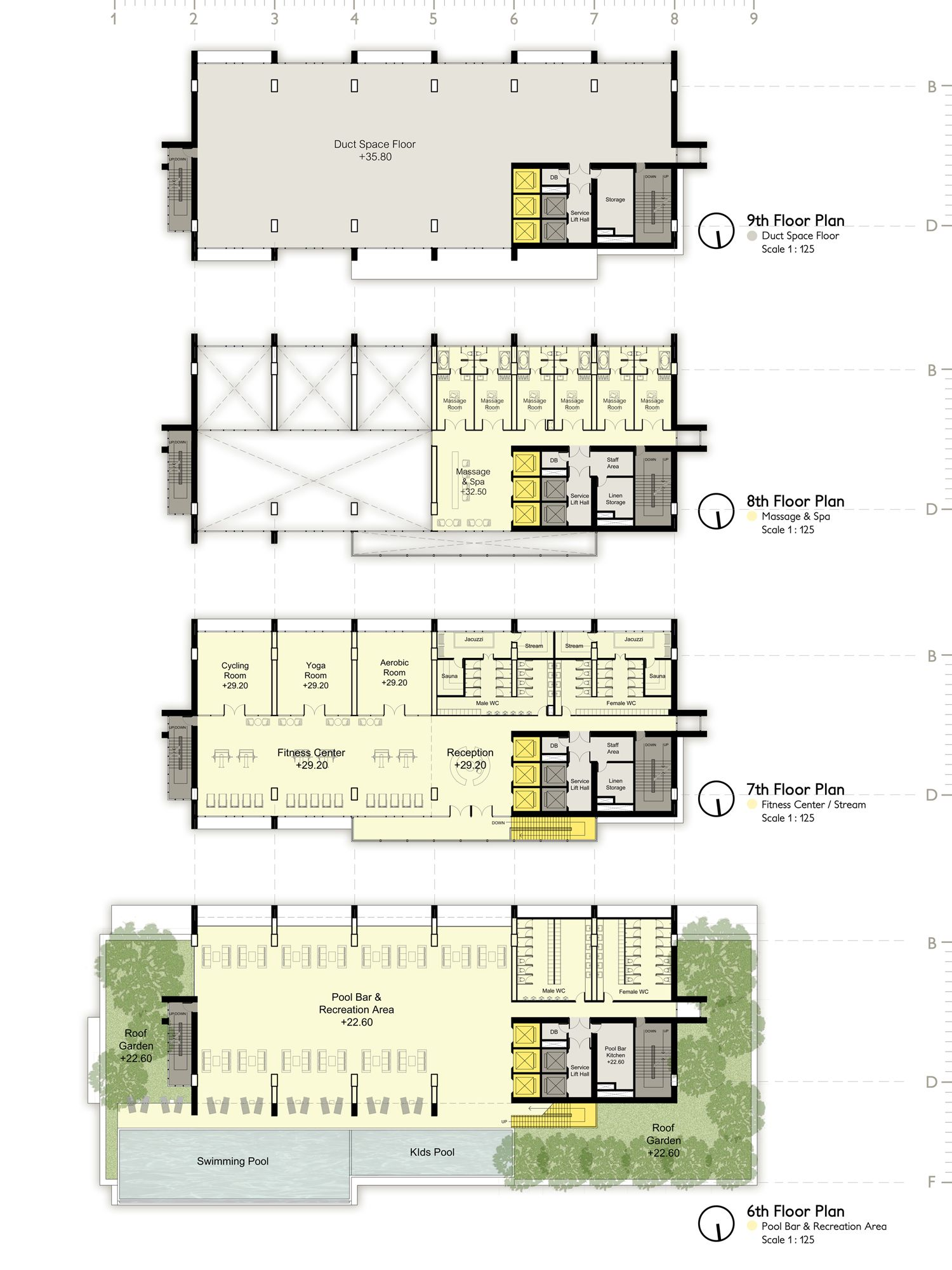 Facility Floor Plan Floor Plans Hotel Architecture Hotel Plan