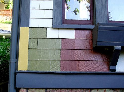 exterior house colors | the main color and smaller samples of the ...