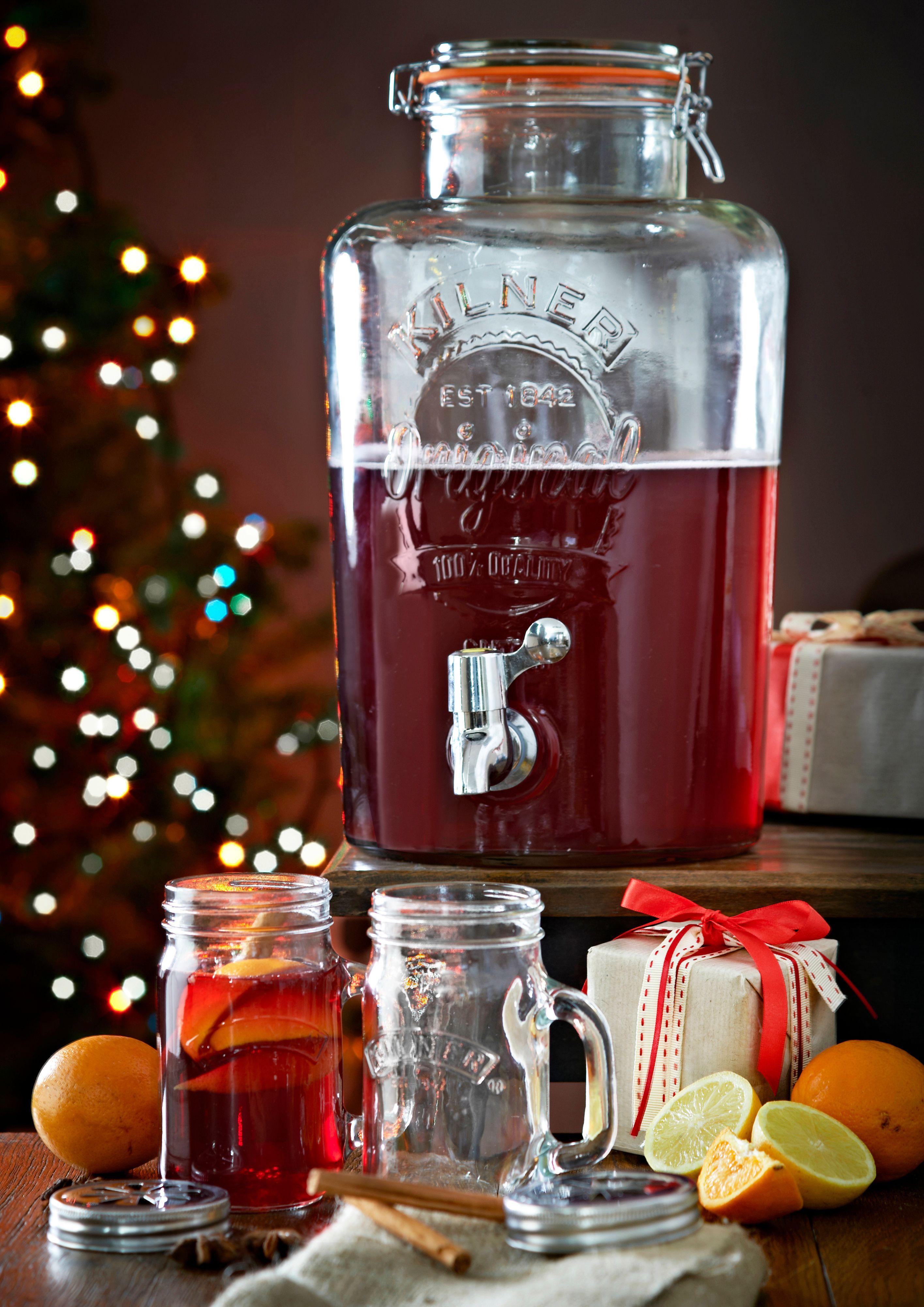Kilner Drinks Dispenser 5 Litre Silver Mushroom Drink Dispenser Kilner Jars Kilner Drinks Dispenser