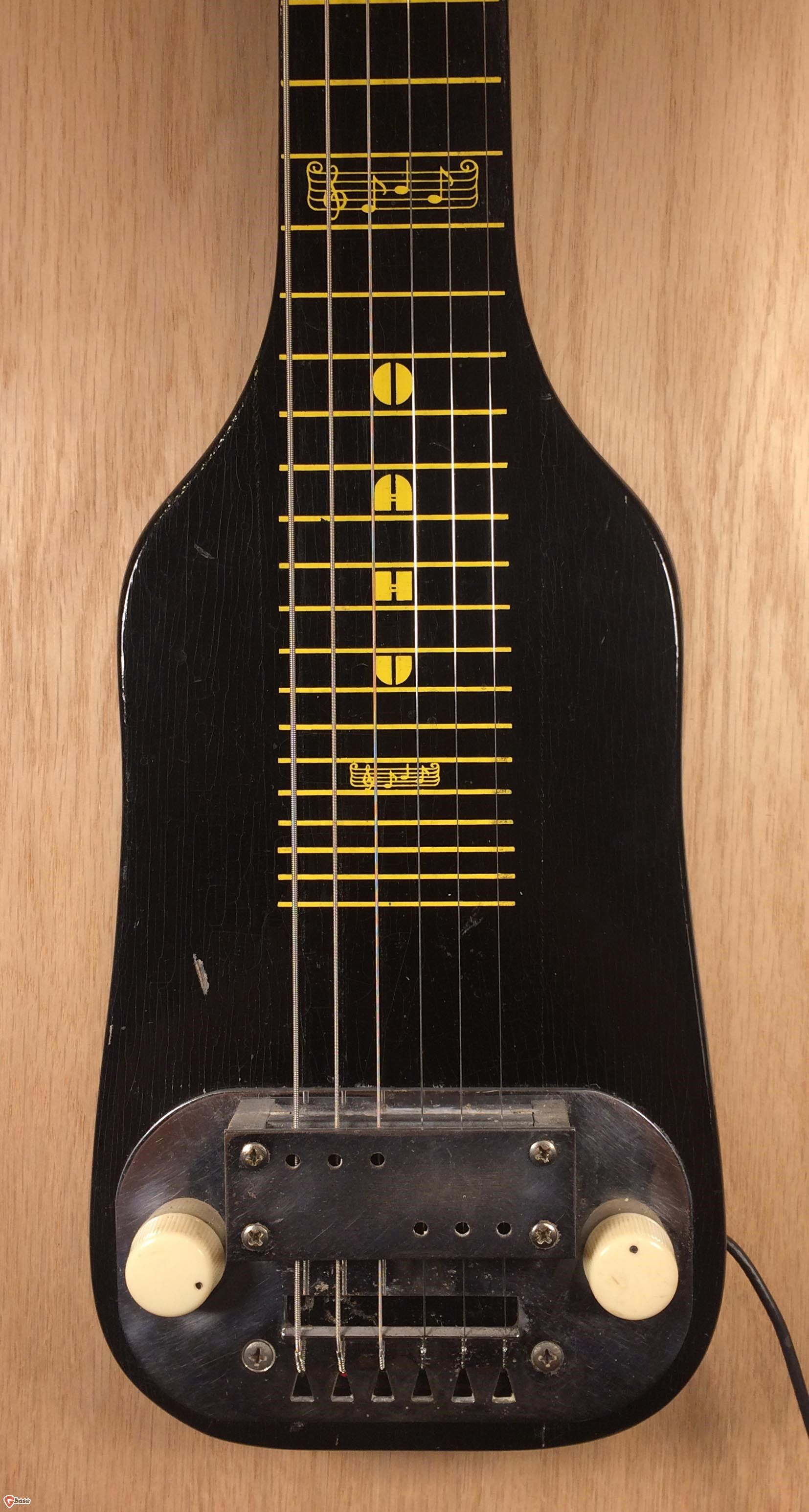 1953 Oahu Lap Steel Electric Guitar Black, Very Good