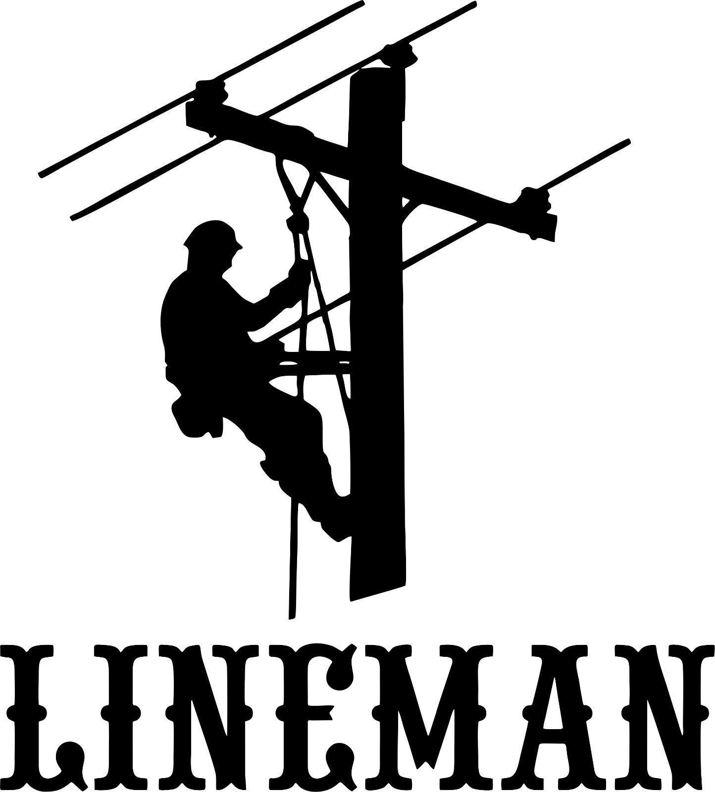 Lineman Electrician Power Worker Man Car Truck Window