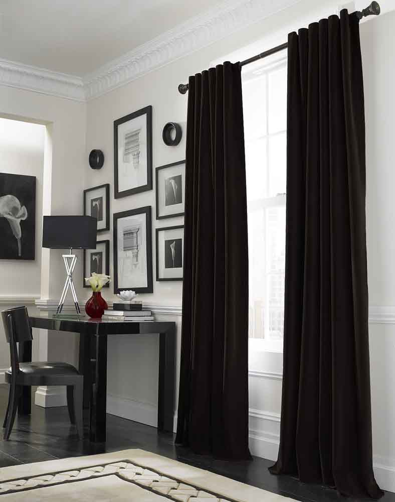 Kelly green velvet curtains - Black Velvet Curtains