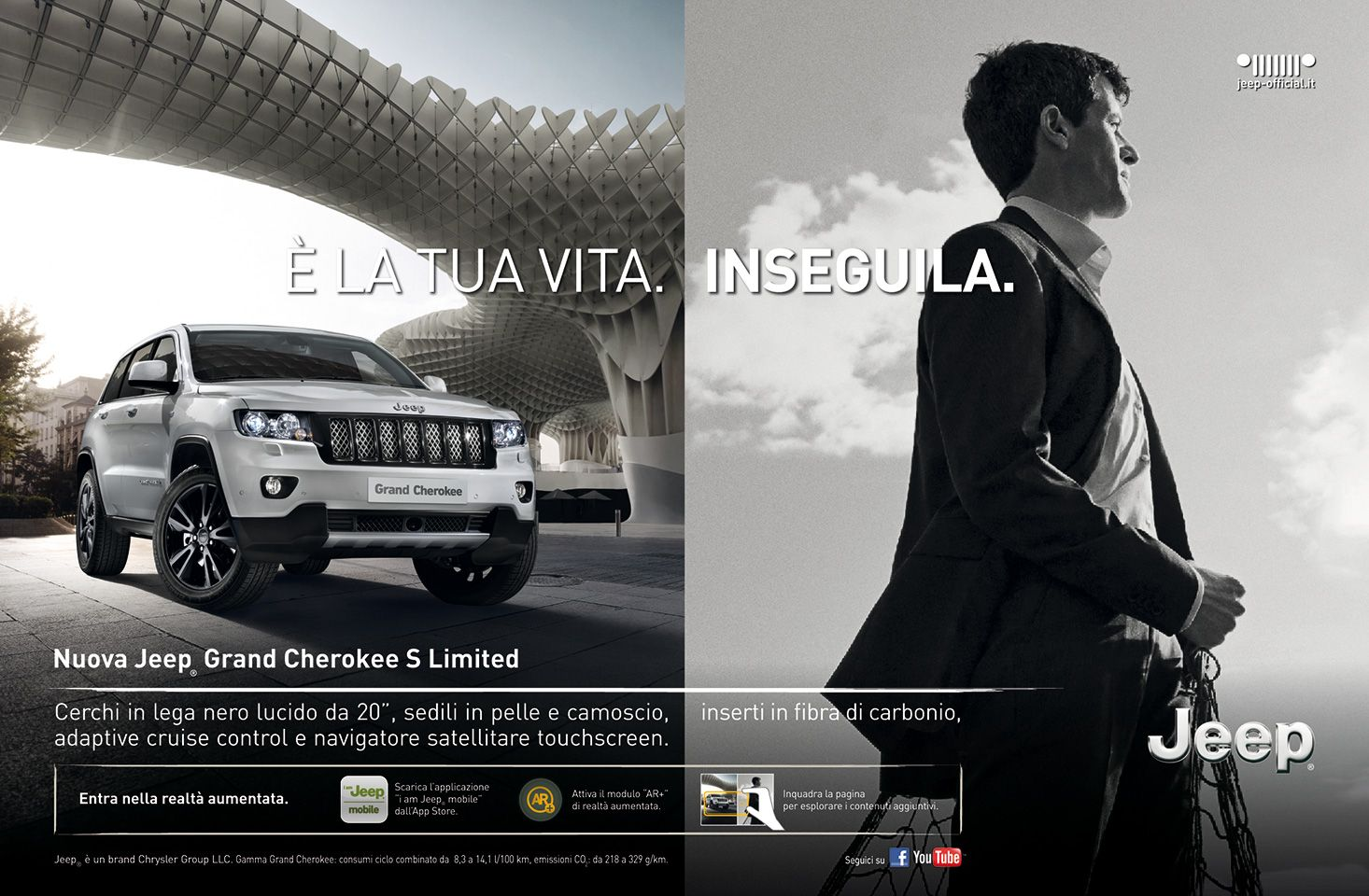 Grand cherokee s limited italian advertising i am jeep mobile app ar