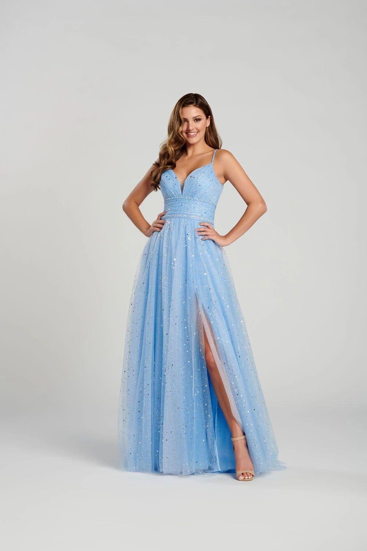 Ellie Wilde Ew120136 Dress In 2021 Periwinkle Dress Dresses Prom Designs [ 1500 x 1000 Pixel ]