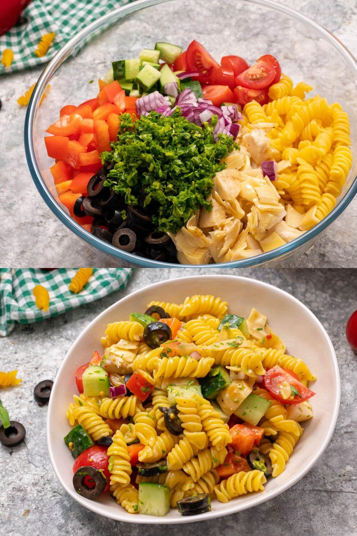 Vegan Italian Pasta Salad Recipe Charming Food Recipe In 2020 Pasta Salad Italian Vegan Recipes Easy Vegan Italian
