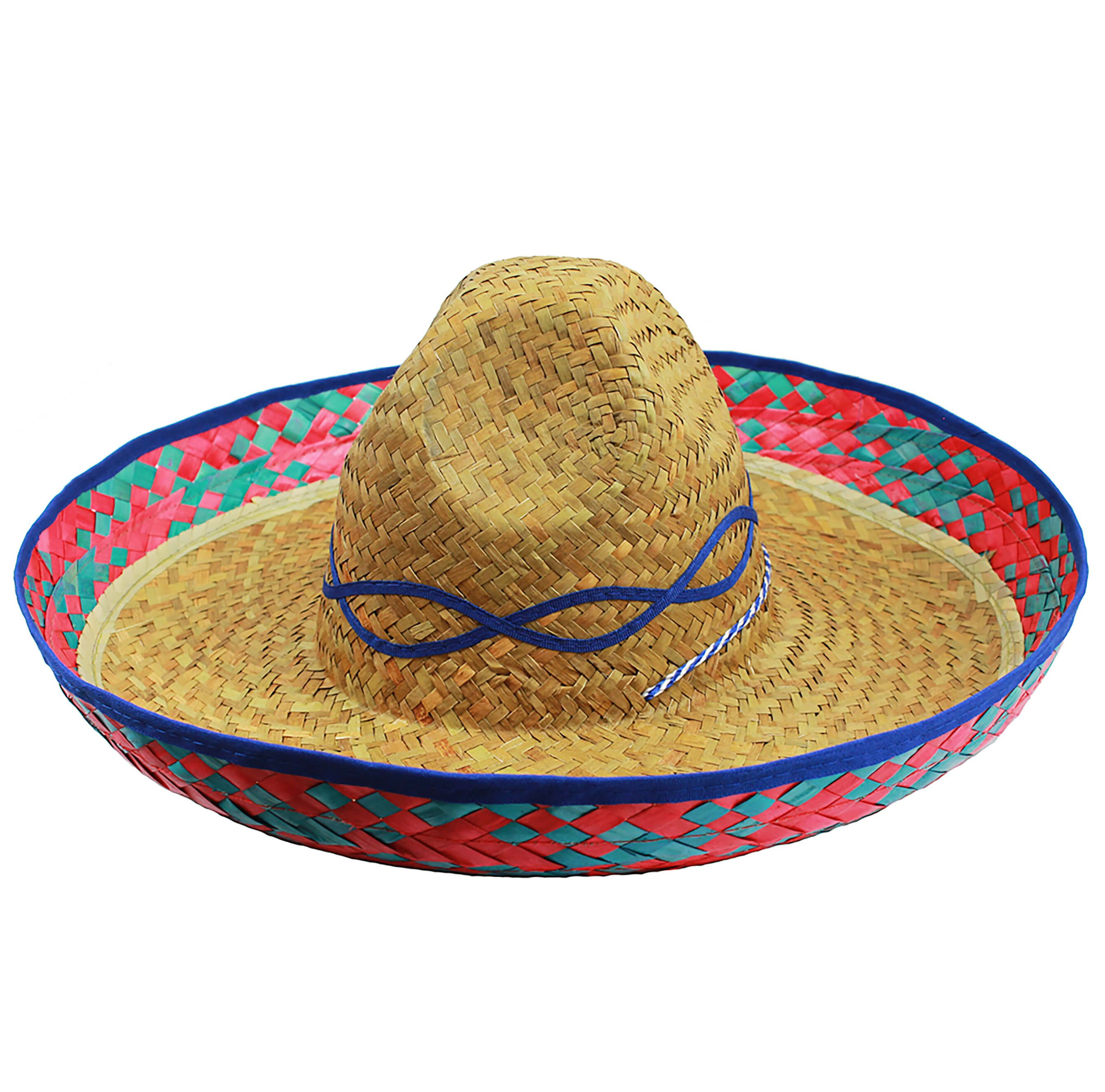 Sombrero Straw Hat Hat Fancy Dress Costume Mexican Adult