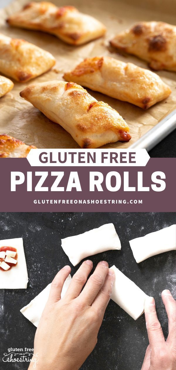 The perfect after school snack or game day appetizer! Pizza rolls are a favorite of kids and adults- I mean who doesn't love pizza? Unfortunately, buying store bought brands can be quite expensive. That's why I've created a simple and healthy recipe that's baked, not fried, and of course is gluten free. The dough recipe is super easy, too. Now you can make gluten free pizza rolls at home! Homemade always tastes better! #glutenfreepizza #glutenfree