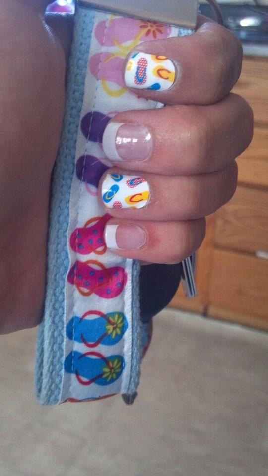Flip Flop Nail art it perfect for summer :) from #JamberryNails ...