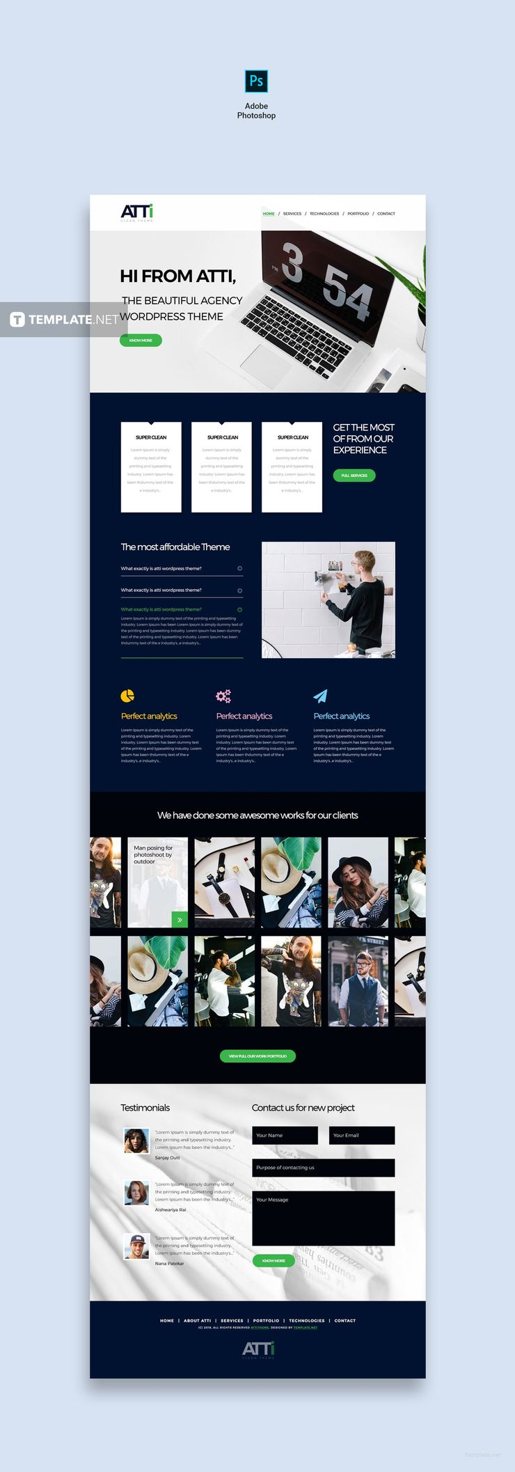 Free Corporate Agency HTML5/CSS3 Website Template Web