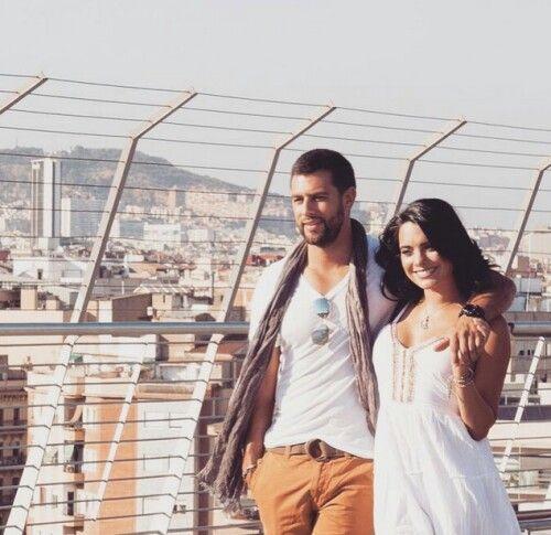 Scarlet Gruber y Christian de la Campa en España