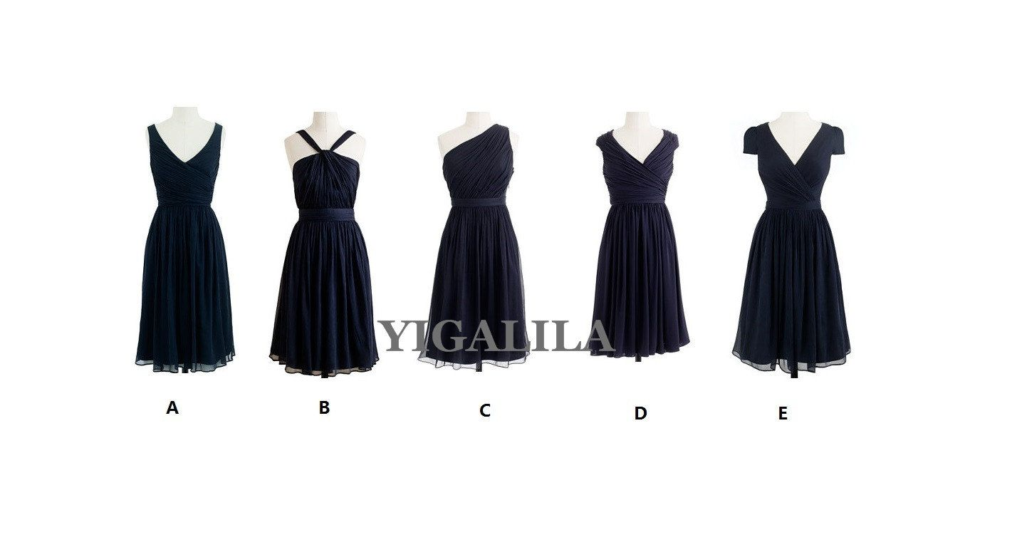 Navy bridesmaid dresswedding dressseries styles of by yigalila