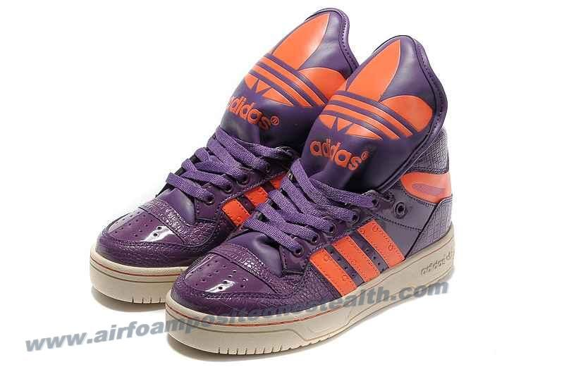 los angeles 29473 298d3 Adidas X Jeremy Scott Big Tongue Shoes Purple Online