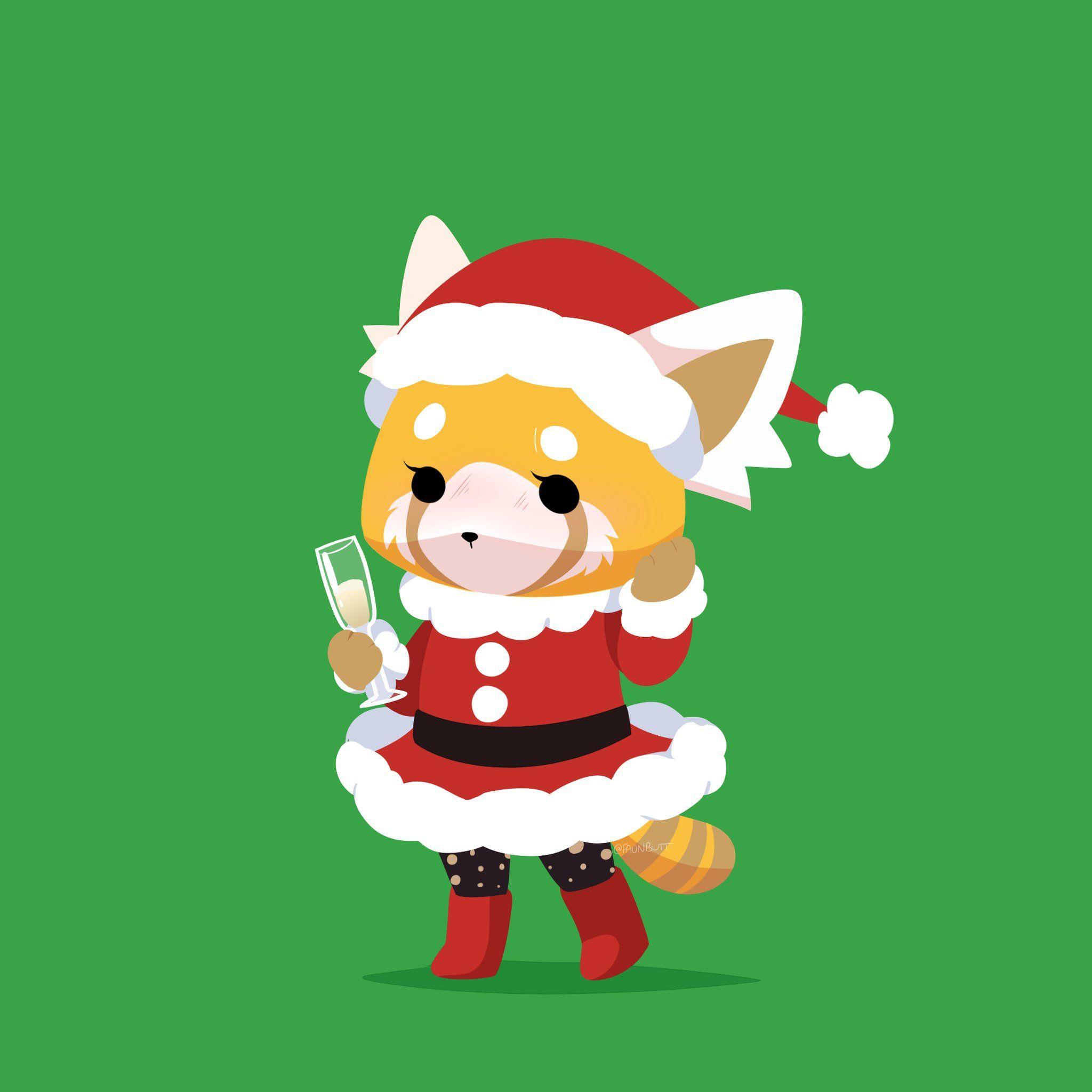 Aggretsuko Christmas.Esquizofrenia Natural On Holiday Greetings Popular Anime