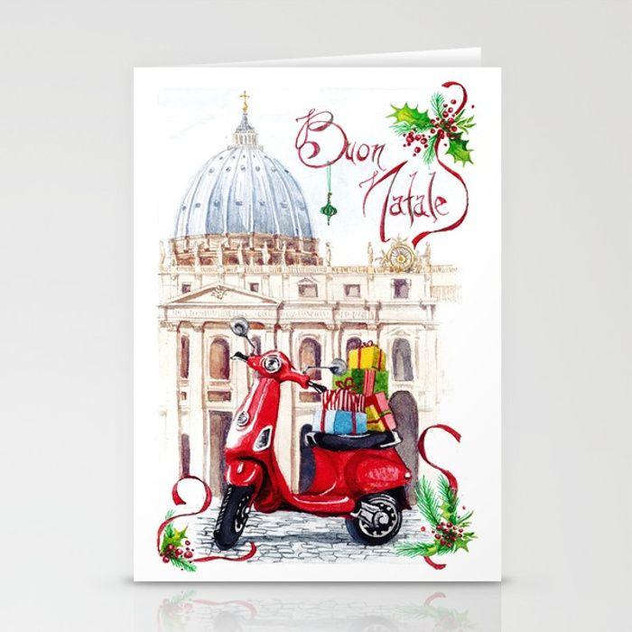 Italian Christmas Card no.1 Stationery Cards #natale #cartolina ...
