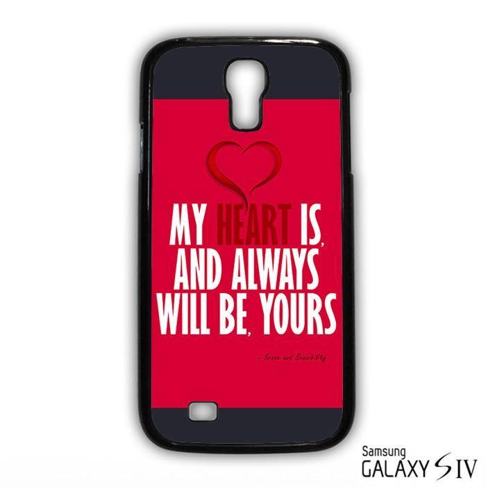 sense and sensibility quote for Samsung Galaxy S3/4/5/6/6 Edge/6 Edge Plus phonecases