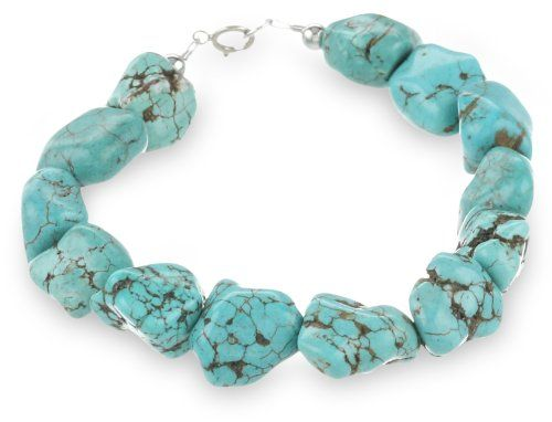 "Sterling Silver and Turquoise Nugget Bracelet, 7.5"" Amazon Curated Collection,http://www.amazon.com/dp/B004A911TG/ref=cm_sw_r_pi_dp_ZNw0sb0Y4N2ZA9WB"