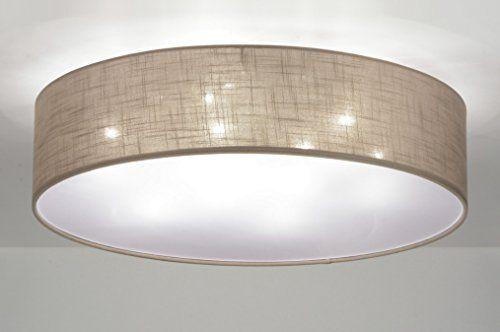 Zoxx Deckenleuchte Modern Stoff Taupe Rund Lampen Wohnzimmer Deckenleuchte Wohnzimmer Moderne Lampen Wohnzimmer