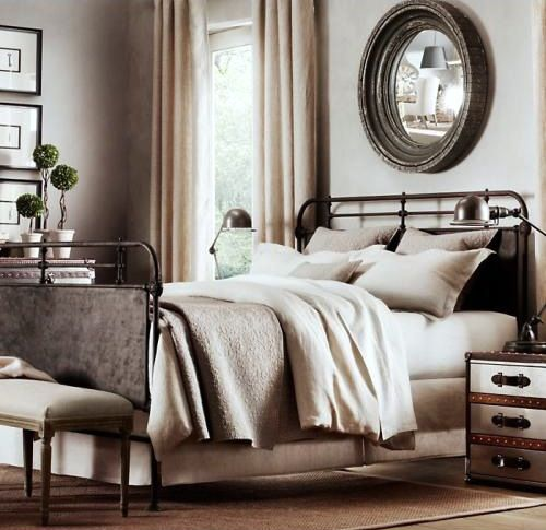 The Grays And Neutrals Are Very Calm And Soothing. Really Admire The Mirror  Above The Bed.