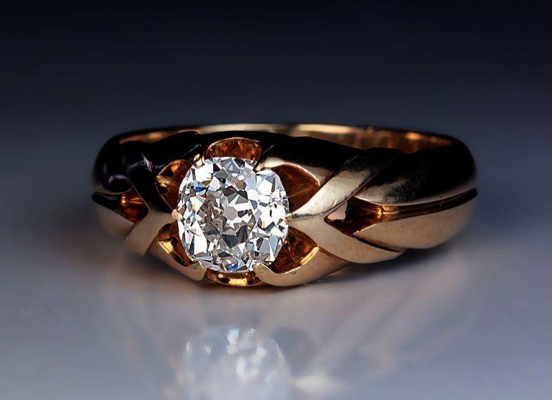 Berricle Rhodium Sterling Zirconia Engagement Black Diamond
