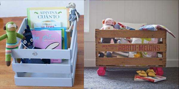 reciclar cajas de fruta para juguetes de nios