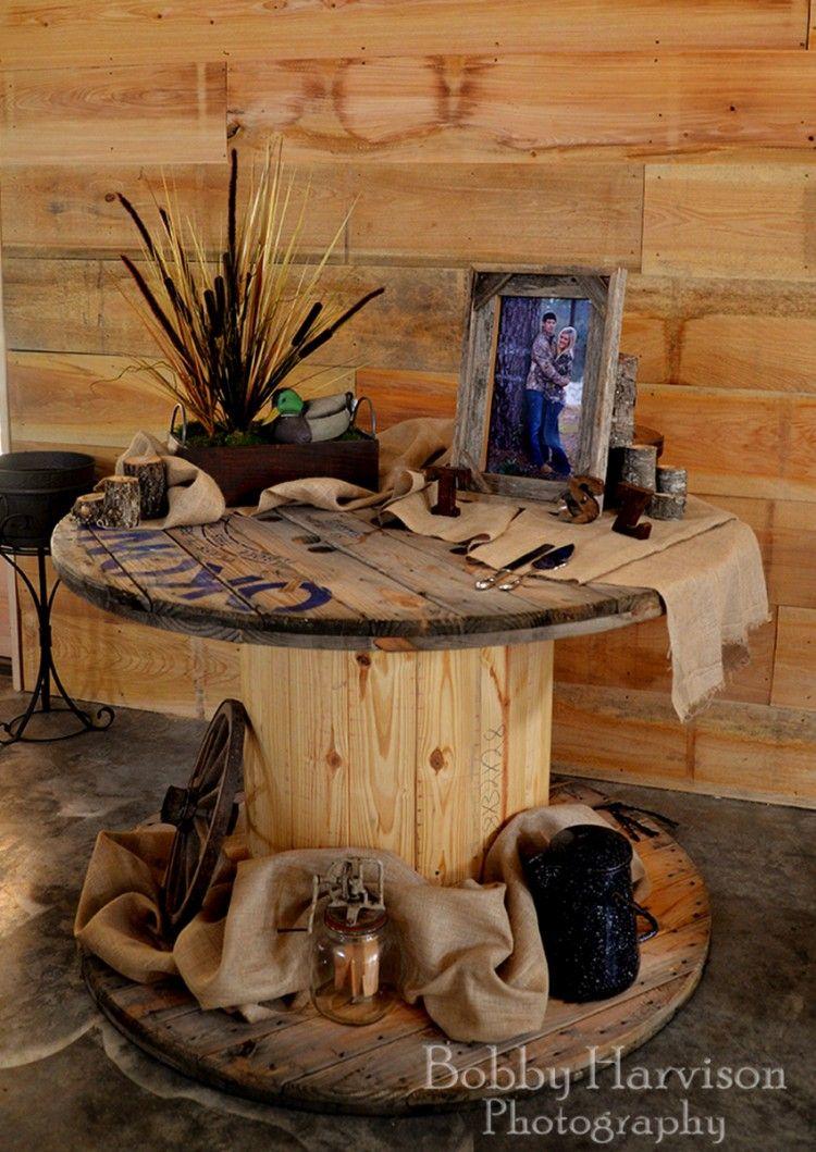 Vintage Wooden Spools Ideas