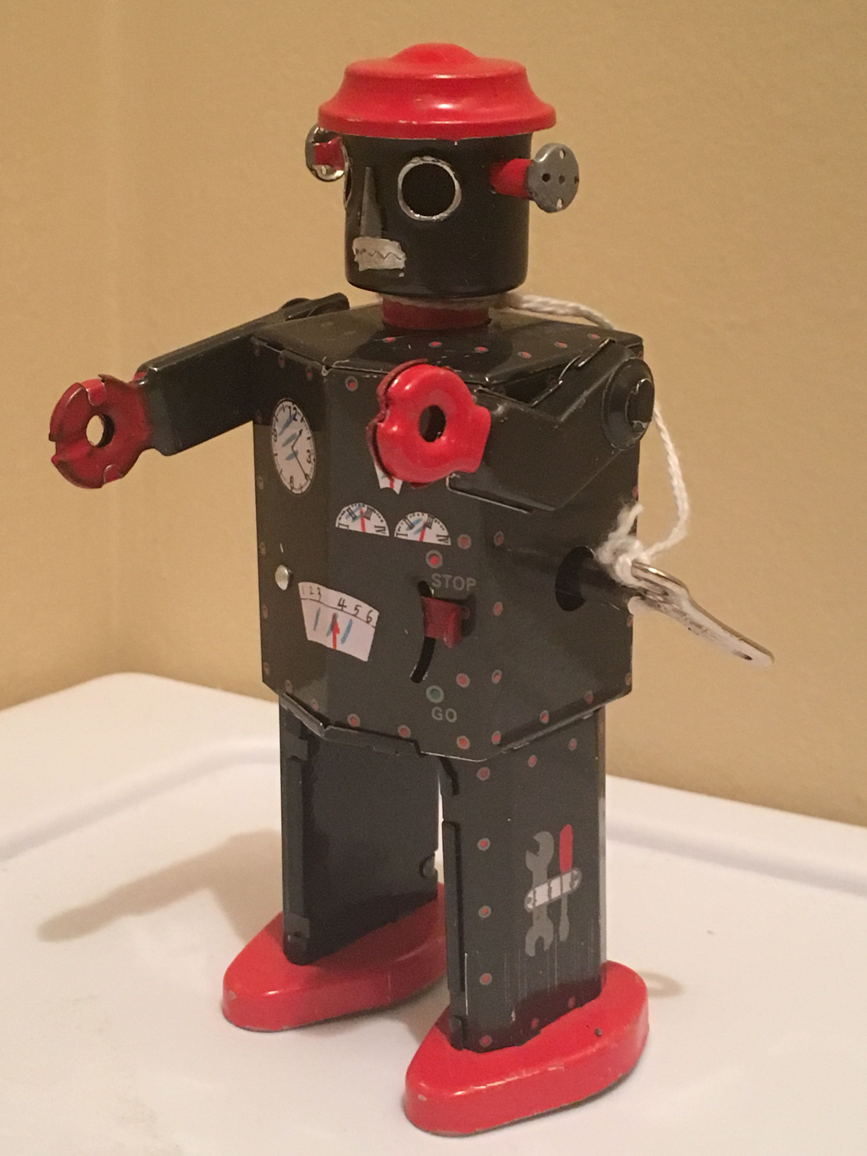 One Of The Tin Wind Up Robots From Baby Bach Baby Einstein Toys