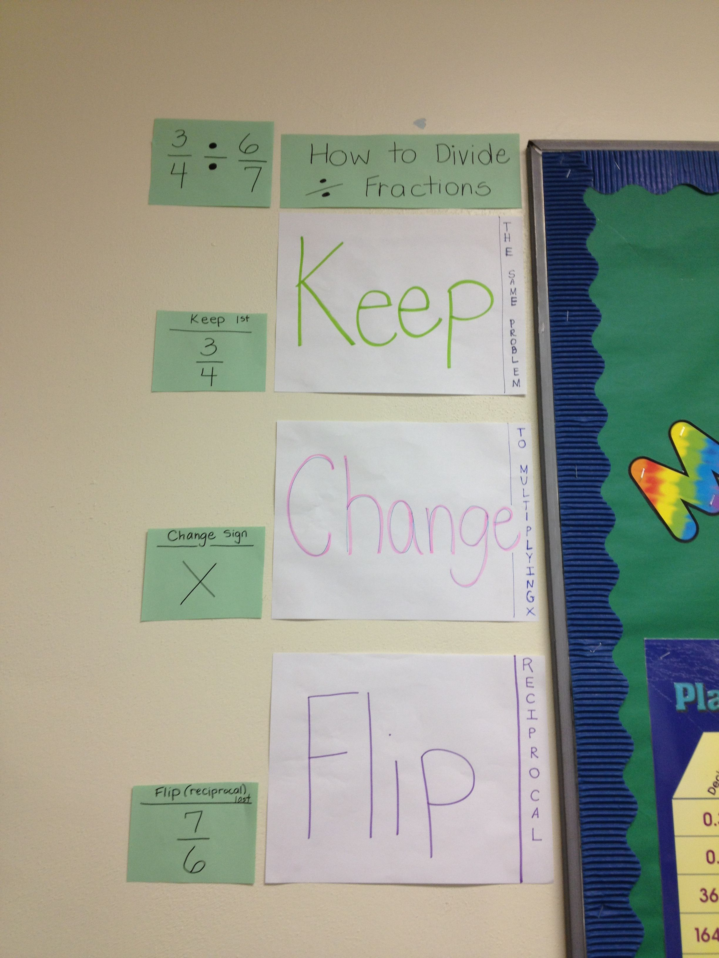 Teaching Division Keep Change Flip Method Wall