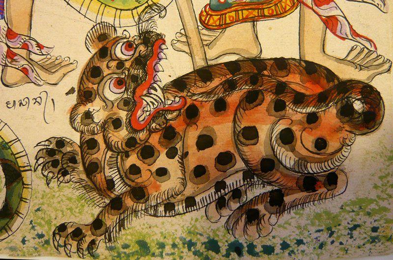 Tiger Balinese Bali Painting Tiger Painting