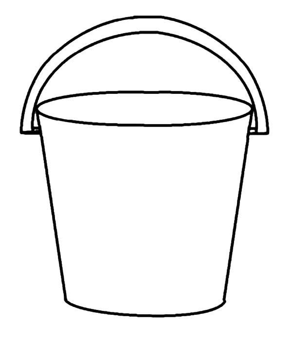 Beach Bucket Coloring Page Nursery