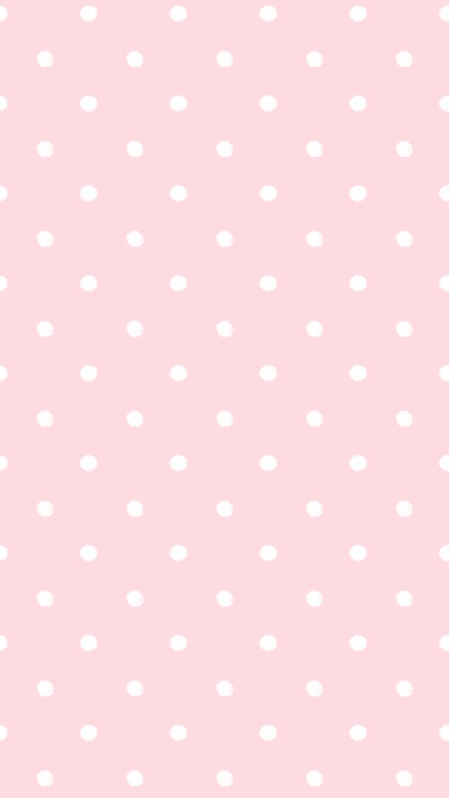 Blush Pink White Dots Spots Iphone Wallpaper Background