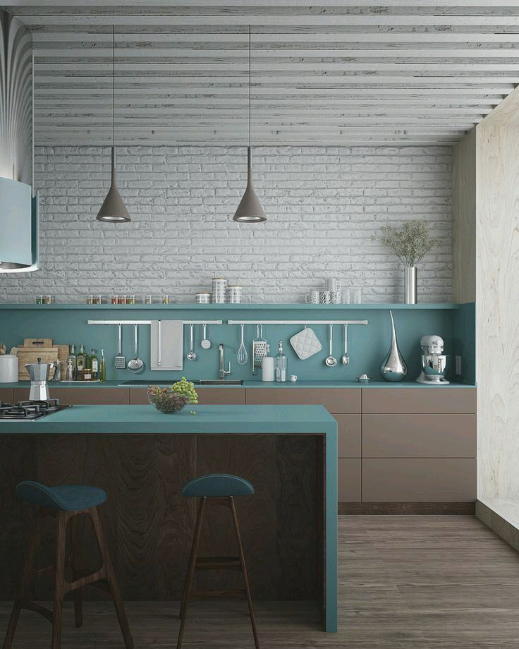 reduzierte Farben KÜCHE Pinterest Interiors, City and Kitchens - farbe für küche