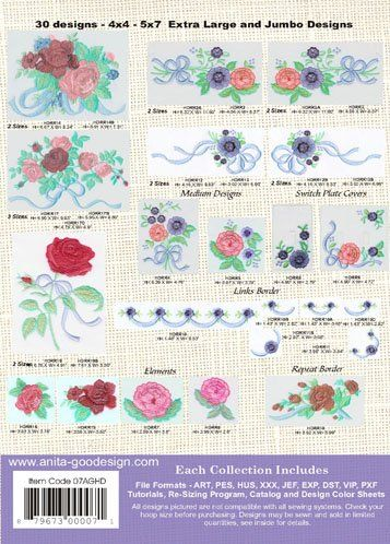 Amazon.com: Anita Goodesign Embroidery Designs Ribbon Romance