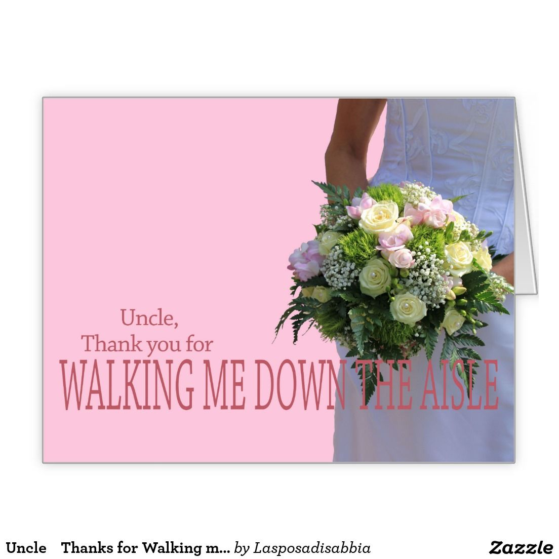 Uncle    Thanks for Walking me down Aisle Large Greeting Card