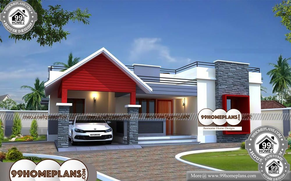 Simple One Story Floor Plans One Story 1400 Sqft Home Kerala House Design One Storey House Simple House Design